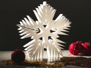 снежинка полистирол