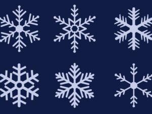 снежинки пенопластовые