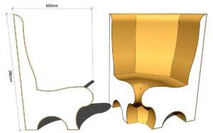 угловое сиденье для хамама