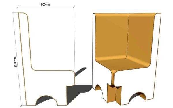угловое сиденье для хамама из пенопласта