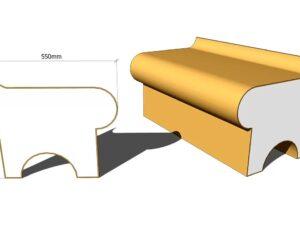 скамья для хамама пенопласт