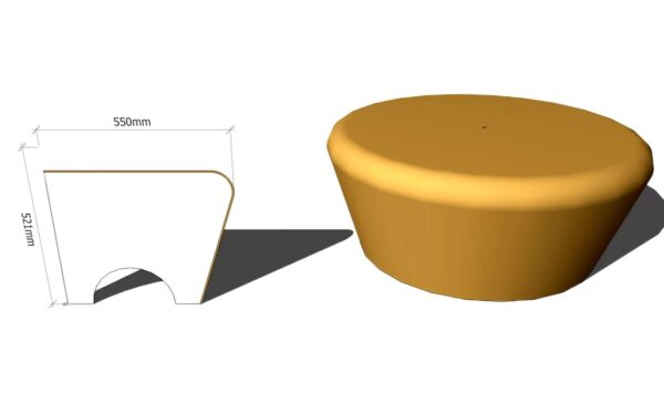 круглое сиденье для хамама