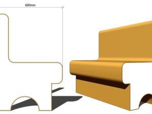 пенопластовое сиденье в хамам