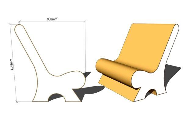 сиденье лежак из пенопласта