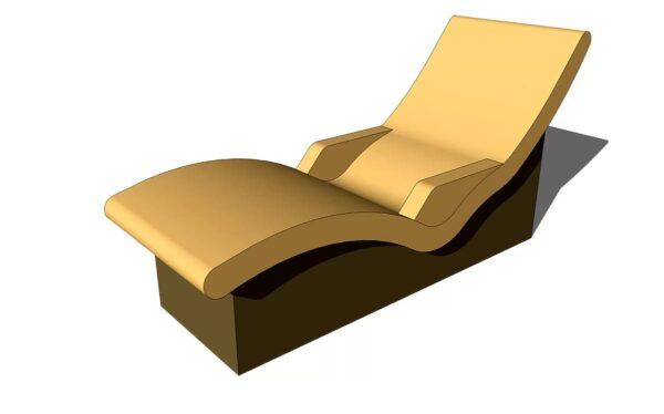 лежак для хамама с подлокотником