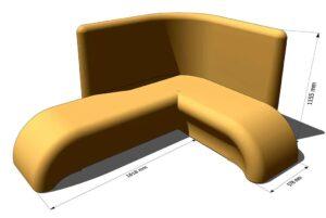 двойной лежак для хамама