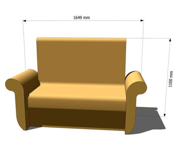 диван для хамама из пенопласта