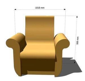 кресло для хамама из пенопласта
