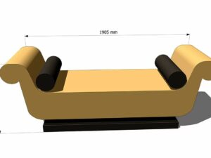 диван для хамама из пенополистирола