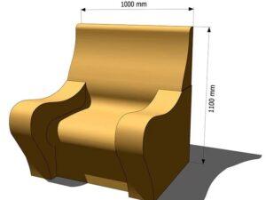 кресло из пенопласта