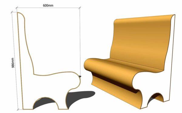 сиденье для хамама из пенопласта